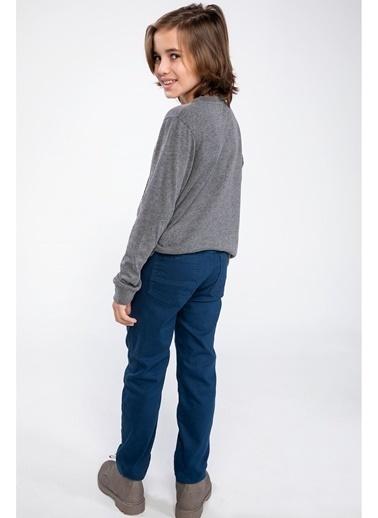 DeFacto Yün Görünümlü Pantolon Mavi